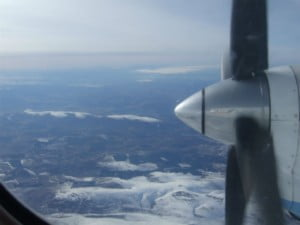 Flying over the Cairngorms