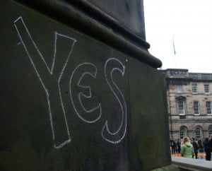 'Yes' graffiti