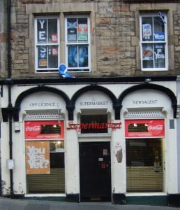 Edinburgh pro-indy shop front