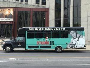 Tour bus to RCA's Studio B