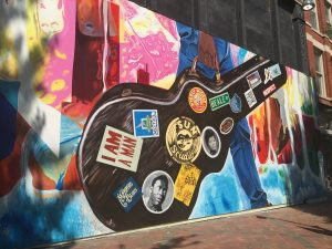 Mural downtown Memphis - next stop on the my trip.