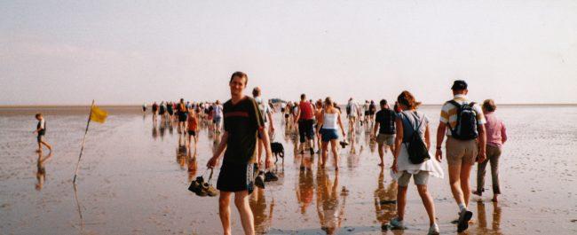 Cross sands walk Morecambe Bay